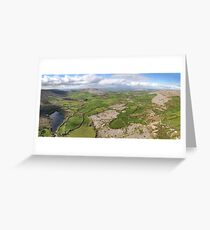 aerial panoramic landscape from the burren national park in county clare ireland. beautiful scenic irish rural nature countryside Greeting Card