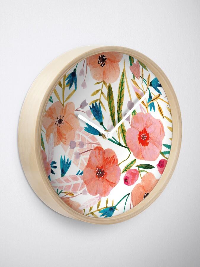 Alternate view of Floral Dance Clock
