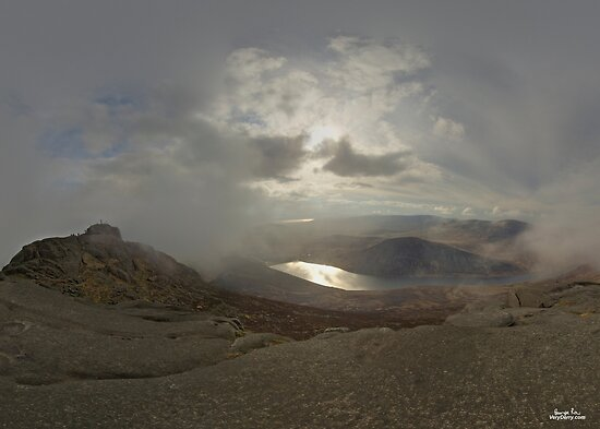 Panoramic View from Slieve Binnian by George Row