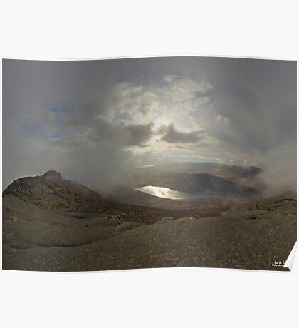 Panoramic View from Slieve Binnian Poster