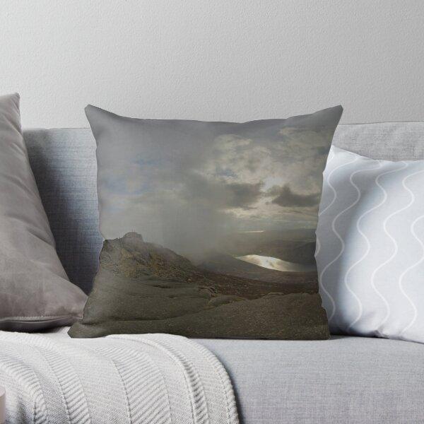 Panoramic View from Slieve Binnian Throw Pillow