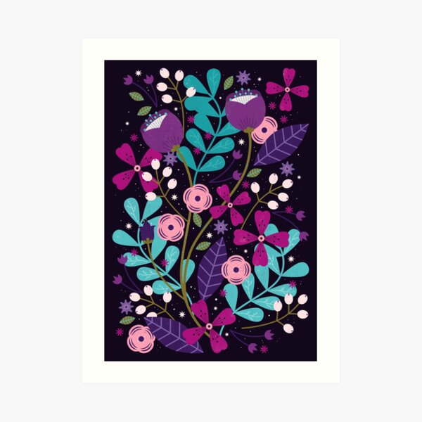 Starlight Blooms  Art Print