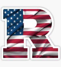 Rutgers American Flag Sticker
