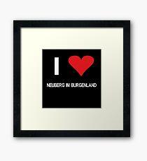 I love Neuberg im Burgenland Framed Print