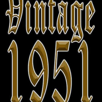 Vintage 1951, Fifties by TOMSREDBUBBLE