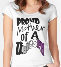 Proud Mother Asexual (Black) Women's Fitted Scoop T-Shirt