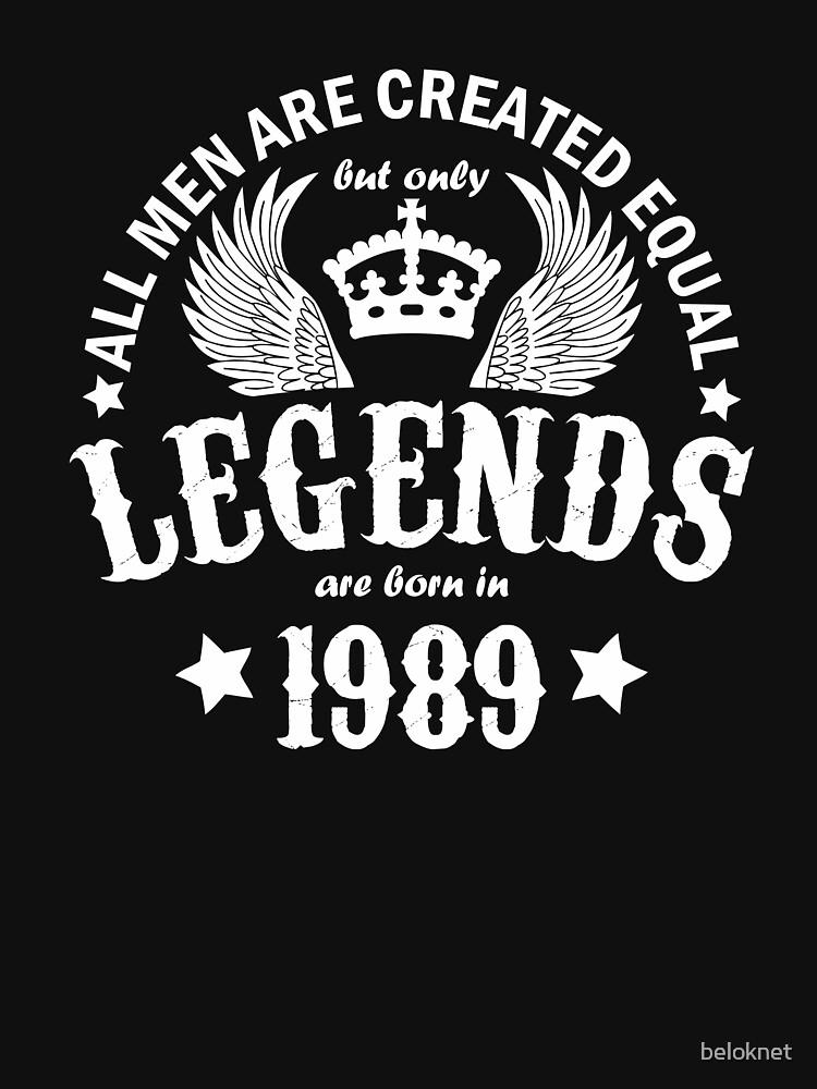 Legends are Born in 1989 by beloknet