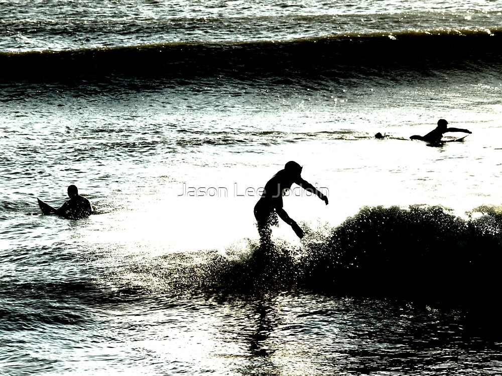 Surf Zombie Surfing Hampton, New Hampshire in February by Jason Lee Jodoin