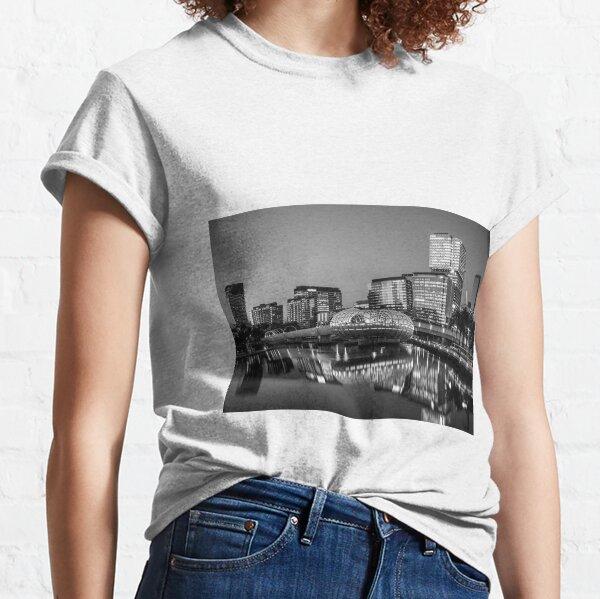 Webb Bridge BnW, Melbourne Docklands Classic T-Shirt