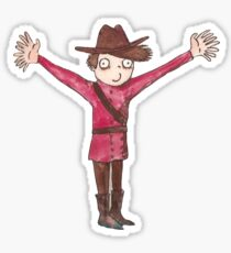 Liam, the Mounty with 18 Fingers Sticker