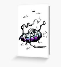The Steam Powered Ratship Greeting Card