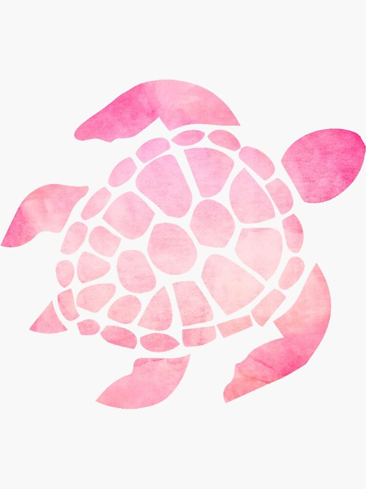 Mar Tortuga Acuarela Rosa de livpaigedesigns