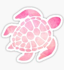 Sea Turtle Watercolor Pink Sticker