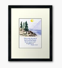 Thankfulness, Psalm 118:24  Framed Print