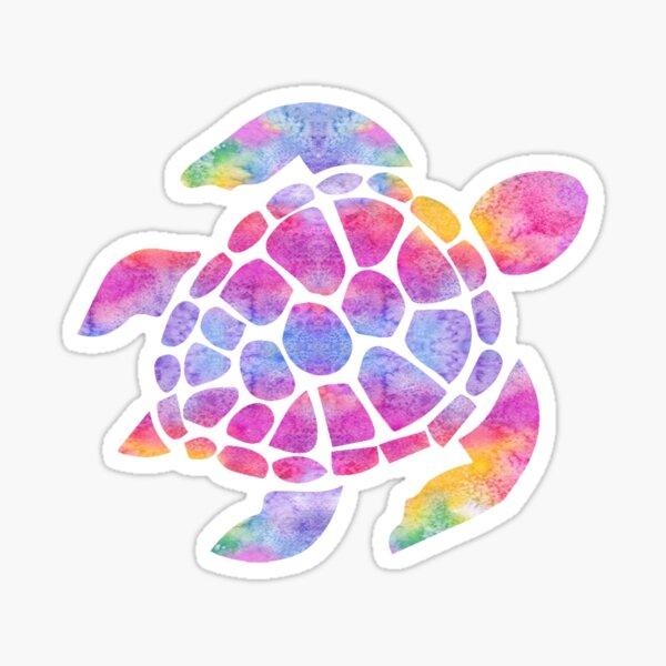 Sea Turtle Watercolor Rainbow Sticker