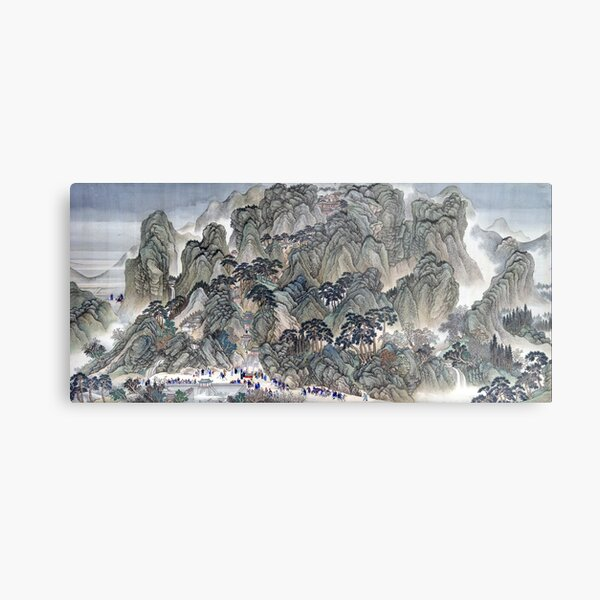 Wang Hui Ji'nan to Mount Tai Metal Print