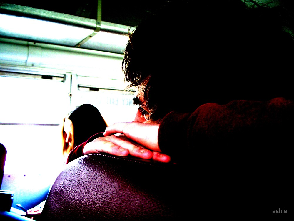 Sleepy Busride by ashie