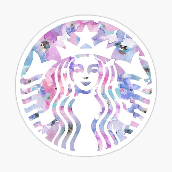 Starbucks Floral Watercolor Sticker