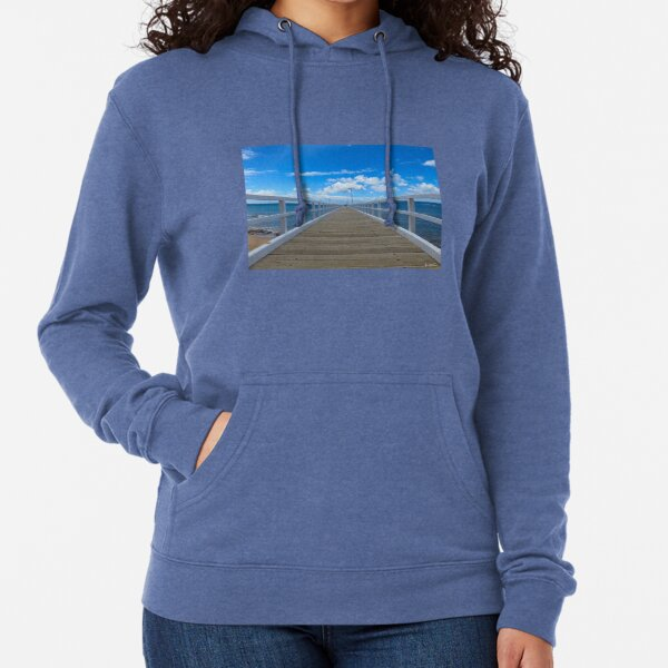Pier at Point Lonsdale Lightweight Hoodie