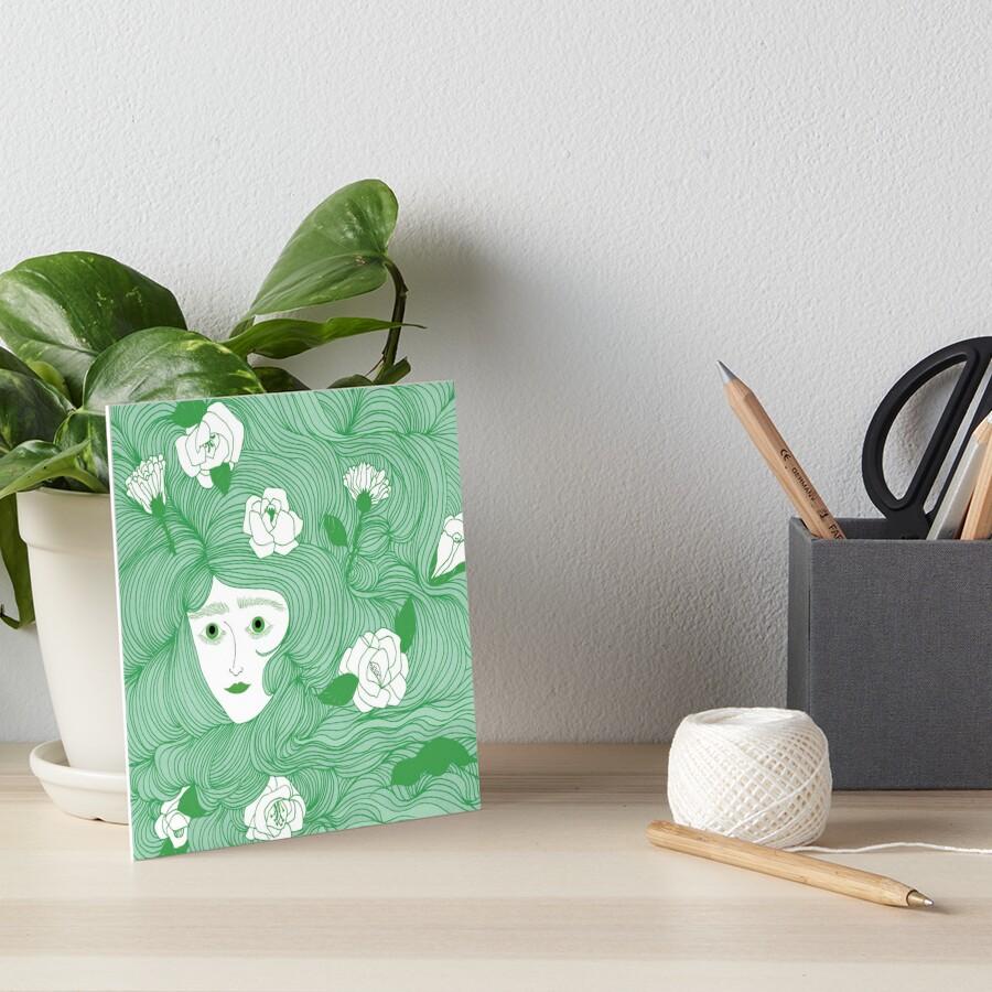 Flora Art Board Print