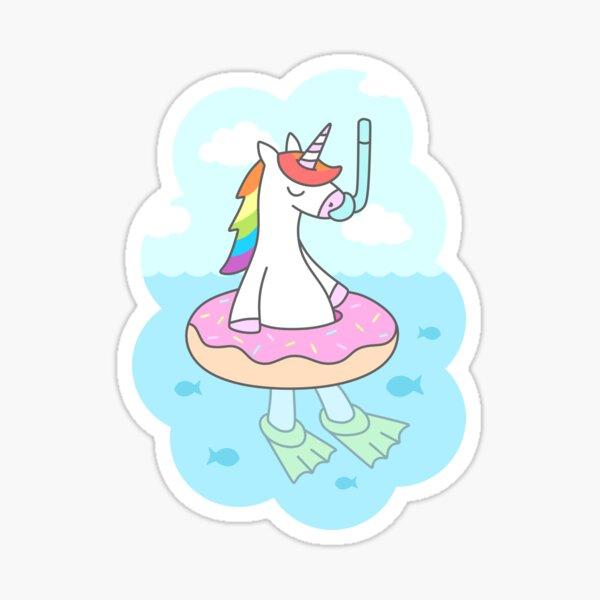 Unicorn Dive Sticker