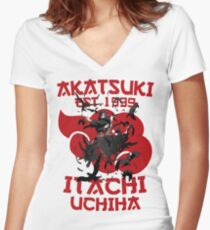 Itachi Uchiha v2 Women's Fitted V-Neck T-Shirt