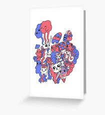 Blue&Red Greeting Card