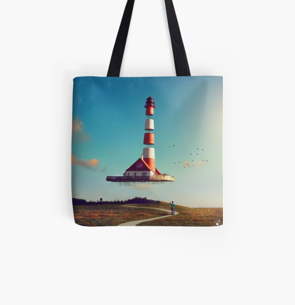 Lighthouse All Over Print Tote Bag