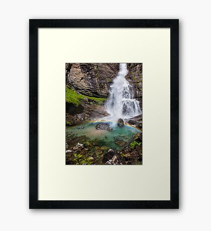 Fall with little rainbow Framed Print