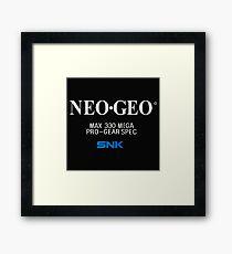 NeoGeo - Classic screen Framed Print