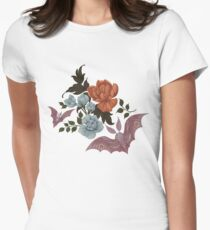 Botanical - moths and night flowers Womens Fitted T-Shirt