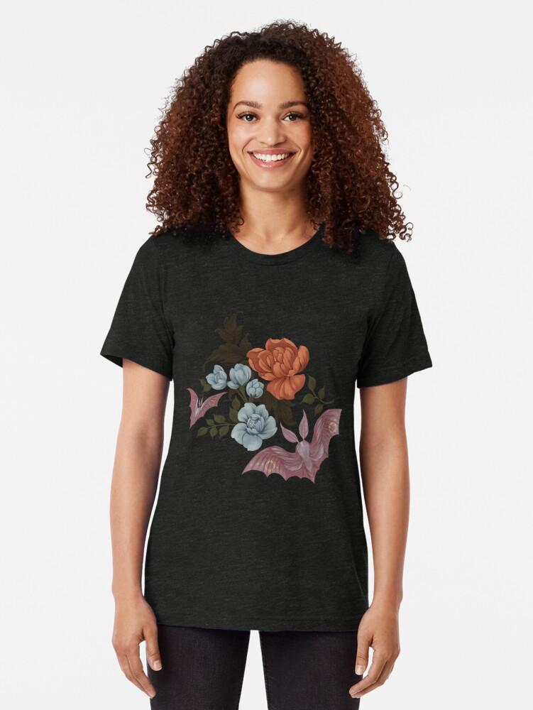 Alternative Ansicht von Botanische - Motten und Nachtblumen Vintage T-Shirt
