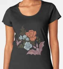 Botanical - moths and night flowers Women's Premium T-Shirt