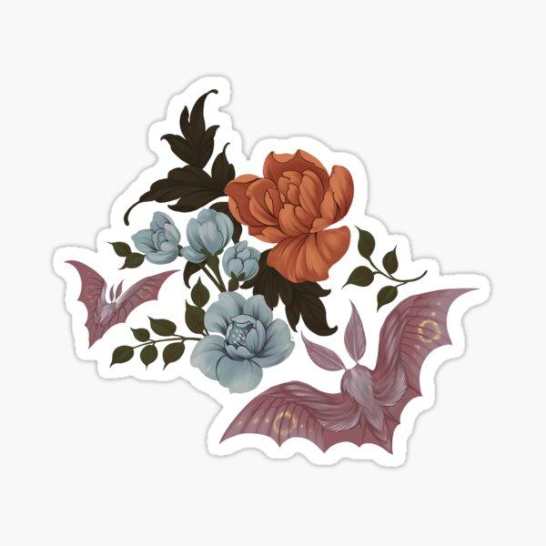 Botanical - moths and night flowers Sticker