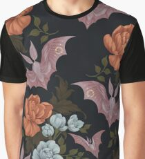 Botanical - moths and night flowers Graphic T-Shirt