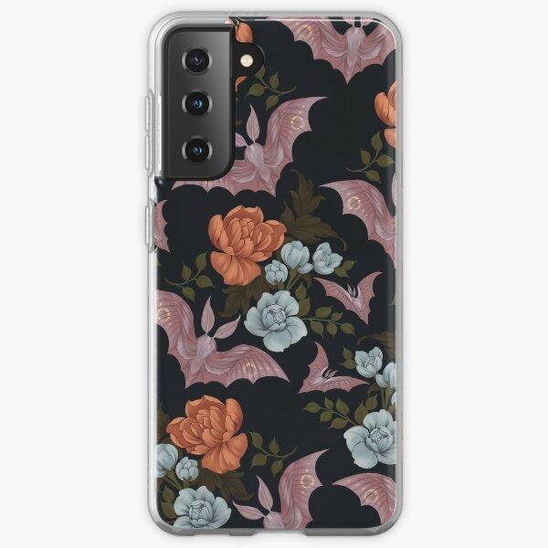 Botanical - moths and night flowers Samsung Galaxy Soft Case