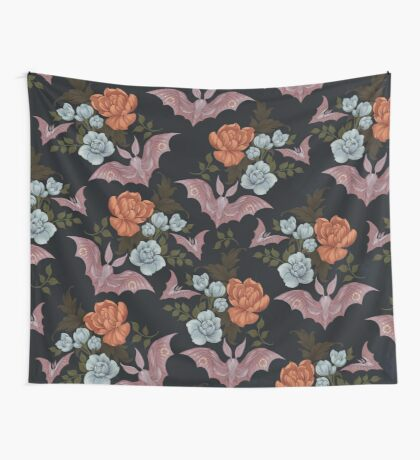 Botanical - moths and night flowers Wall Tapestry
