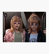 Mary-Kate and Ashley Olsen Photographic Print