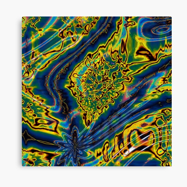 Iridescent Stars 8 Canvas Print