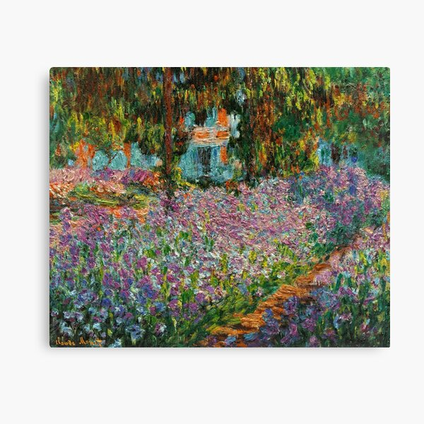 Irises In Monet's Garden At Giverny by Claude Monet Canvas Print
