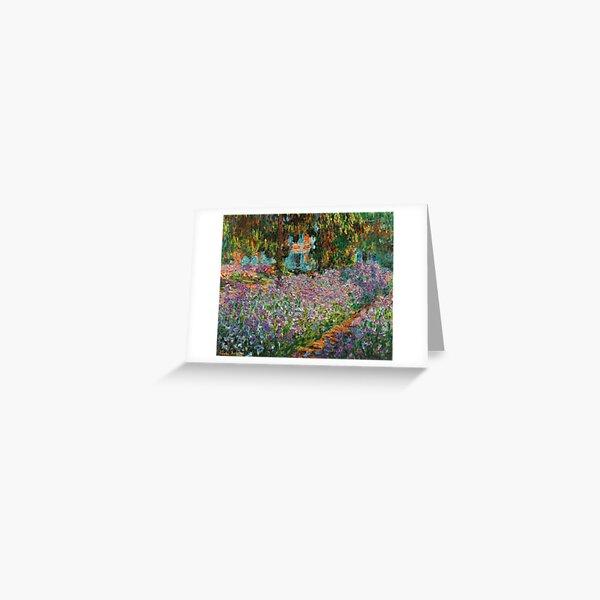 Iris in Monets Garten in Giverny von Claude Monet Grußkarte