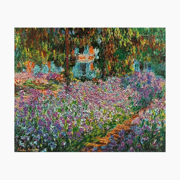 Irises In Monet's Garden At Giverny by Claude Monet Photographic Print