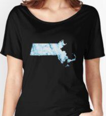 Blue Marble Massachusetts Women's Relaxed Fit T-Shirt