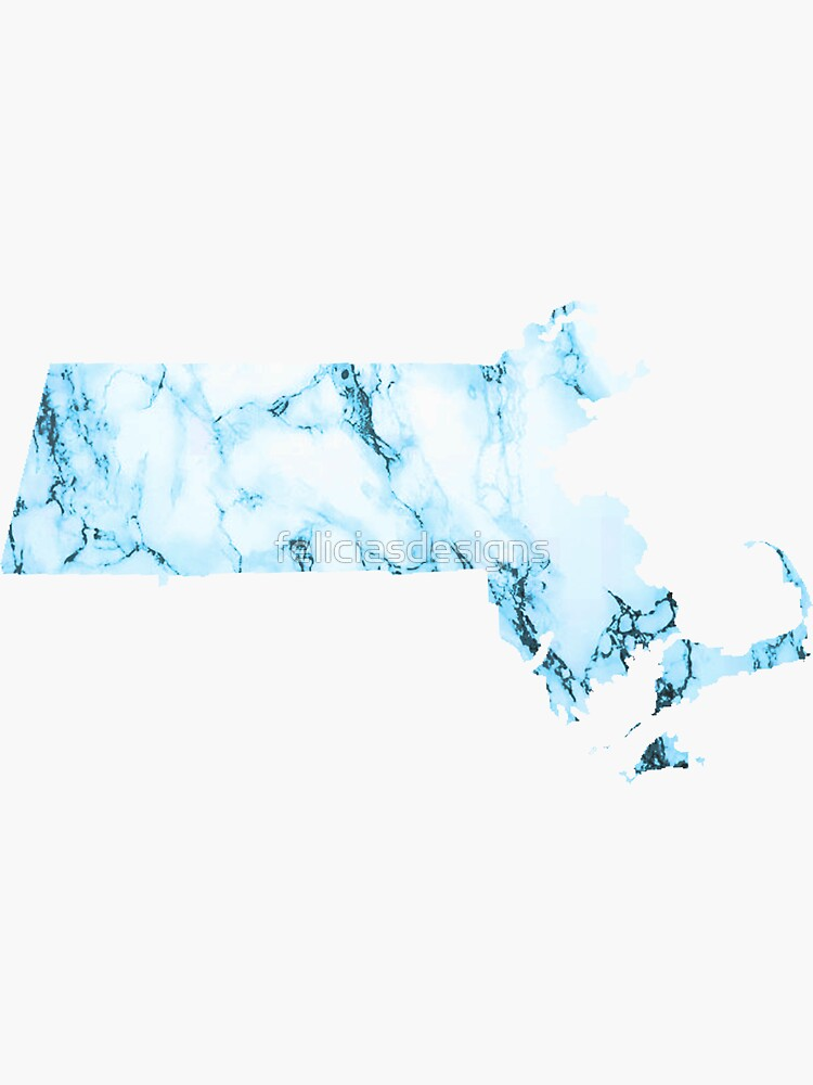 Blue Marble Massachusetts by feliciasdesigns