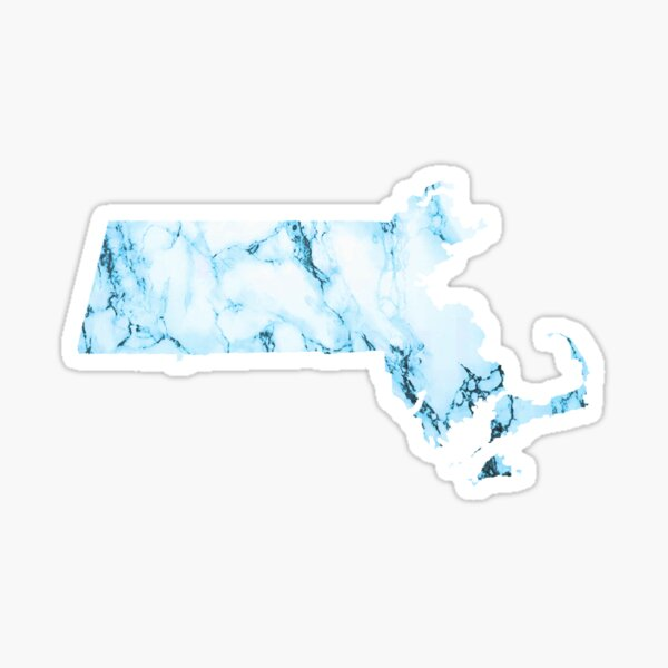 Blue Marble Massachusetts Sticker