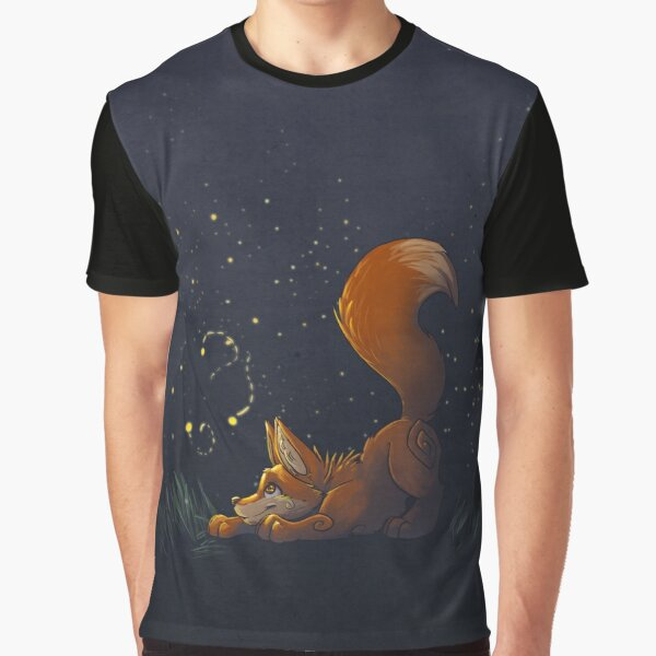 Firefly Fox - Orange Graphic T-Shirt