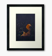 Firefly Fox - Orange Framed Print