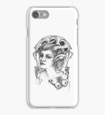 Melancholy Faun with Butterfly iPhone Case/Skin