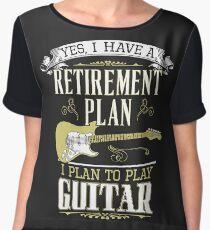 Guitar - Retirement Plan Chiffon Top