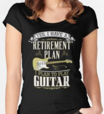 Guitar - Retirement Plan Women's Fitted Scoop T-Shirt
